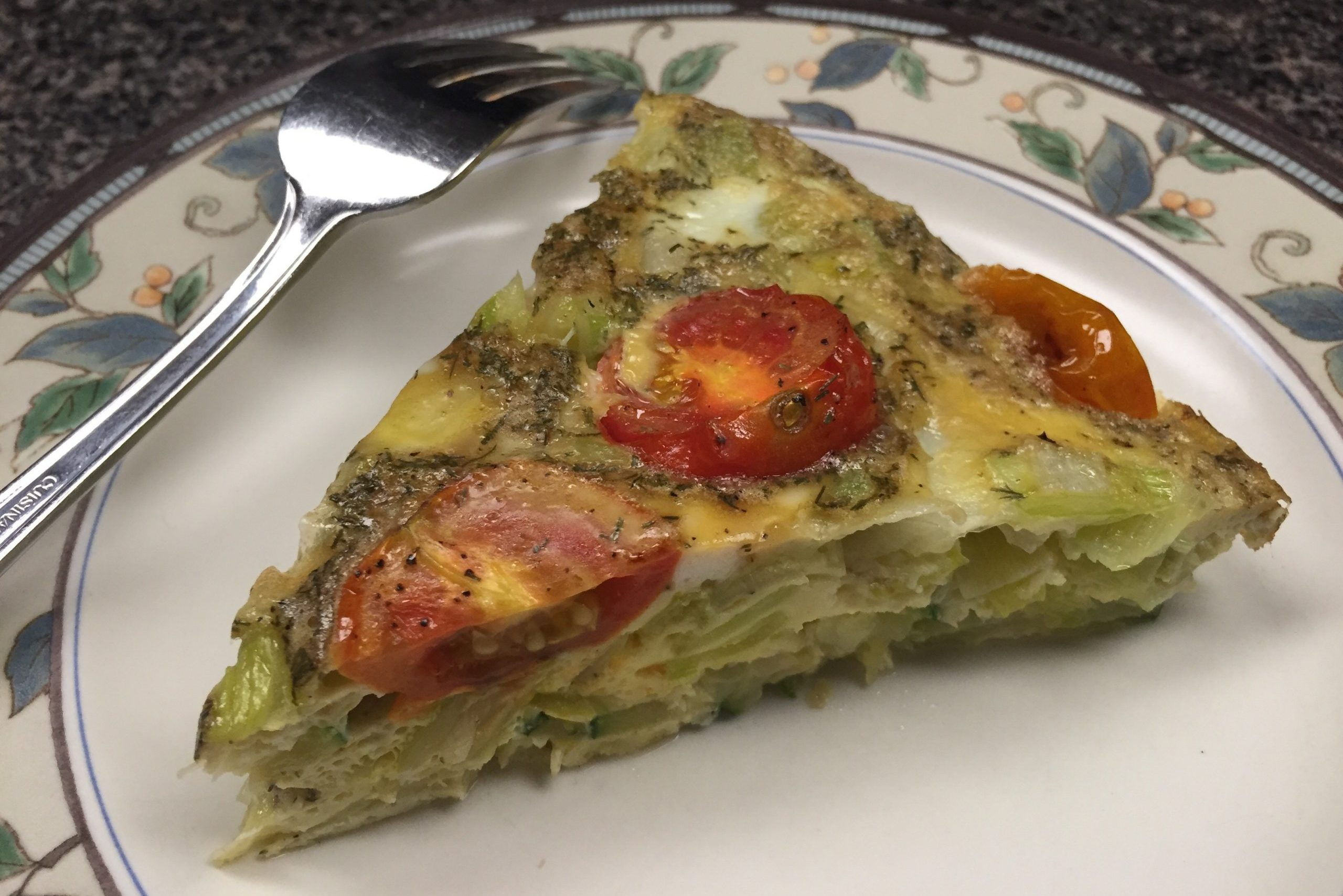 Summer Corn, Zucchini and Roasted Tomato Frittata
