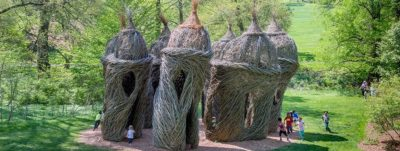 Patrick Doughtery Waltz in the Woods