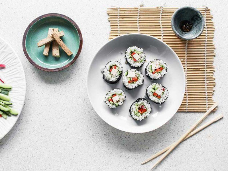 Easy Marinated Tofu Sushi