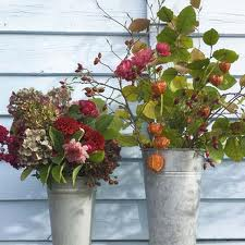 Fall Flower Bouquet in Metal Tins
